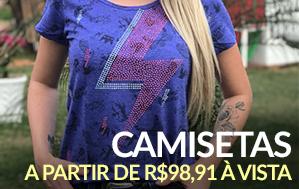 Mini banner camiseta feminina