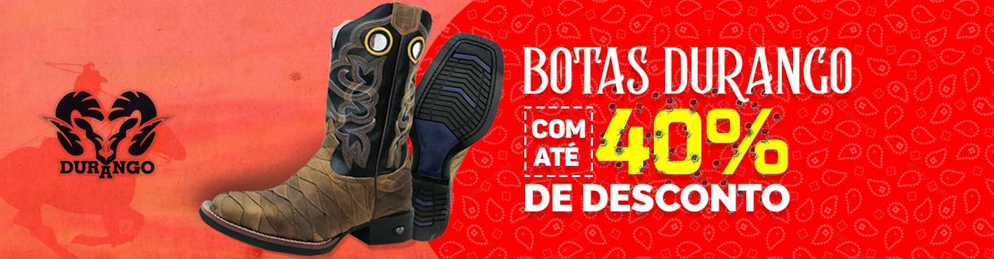 Banner Botas Durango com 40% OFF