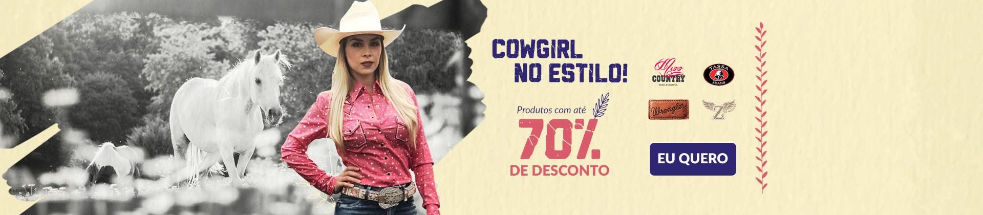 Banner Destaque Cowgirl no estilo -