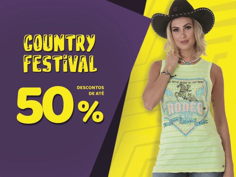 Country Festival - Blusa Feminina 50%
