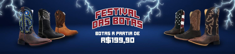 Banner - Promoção Relâmpago Banner - Festival das Botas