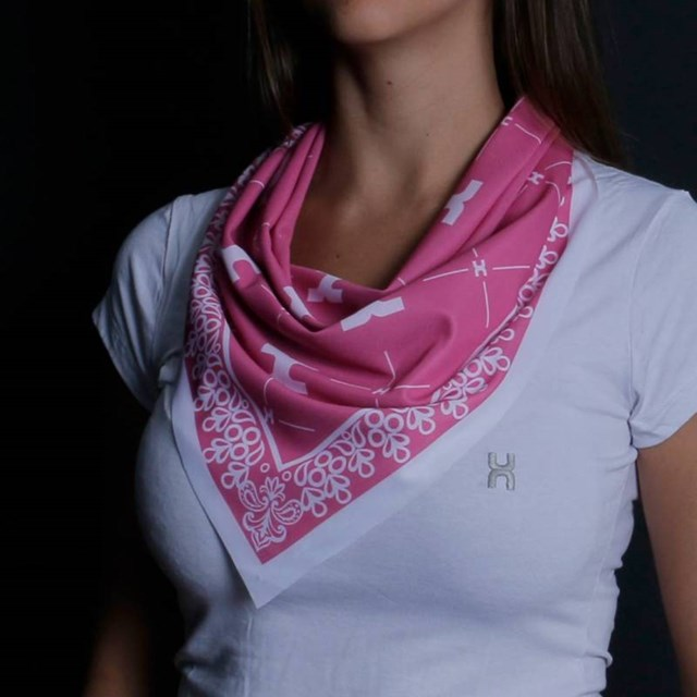 Bandana TXC Rosa/ Branco BD012