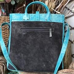 Bolsa Goyazes Cabardino Black/ Metal Azul DouradoB-2101