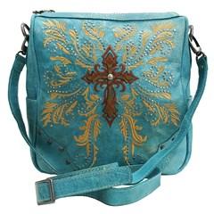 Bolsa Goyazes Flex Metal Azul Dourado/ Dallas Ocre HB-183240-6