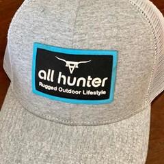 Boné All Hunter Cinza Mescla/Tela Branco 810