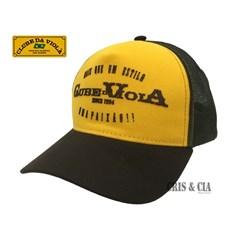 Boné Clube da Viola Amarelo Marrom Tela ... a927ba0e549