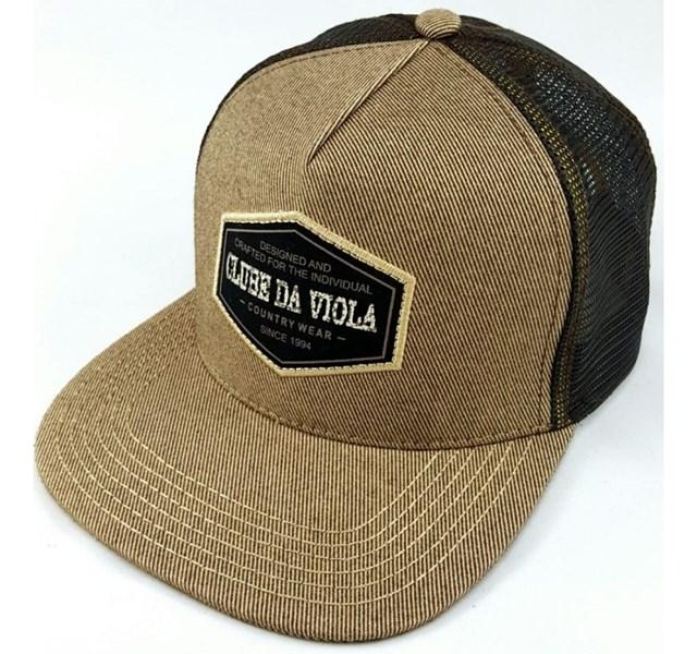 Boné Clube da Viola Dourado Tela Café - Crisecia 4afd2593944