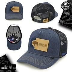 Boné Gringa'S Western Wear Jeans/Tela Azul Marinho TRK-040