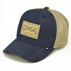 Boné Gringa'S Western Wear Jeans/ Tela Bege TRK-045