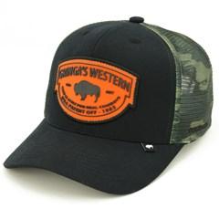 Boné Gringa'S Western Wear Preto/Tela Camuflado SNC-016