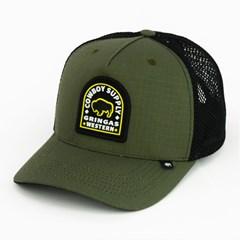Boné Gringa'S Western Wear Verde Militar/ Tela Preto TRK-044
