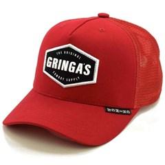Boné Gringa'S Western Wear Vermelho/Tela TRK-038
