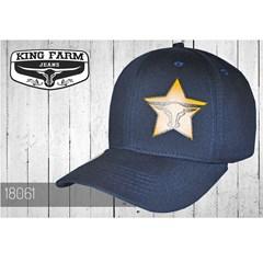 Boné King Farm Azul Marinho Aba Reta 18061 ... a2c1e59d4c1