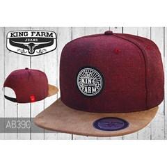 Boné King Farm Bordo Suede Marrom AB390 ... b6491f5b51e