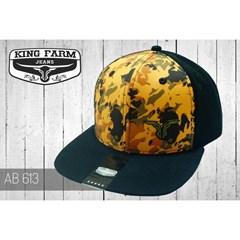 Boné King Farm Camuflado Amarelo/Preto/Tela AB613