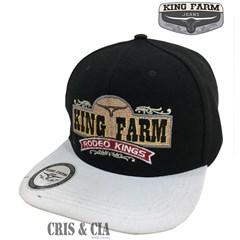 Boné King Farm Preto/Branco