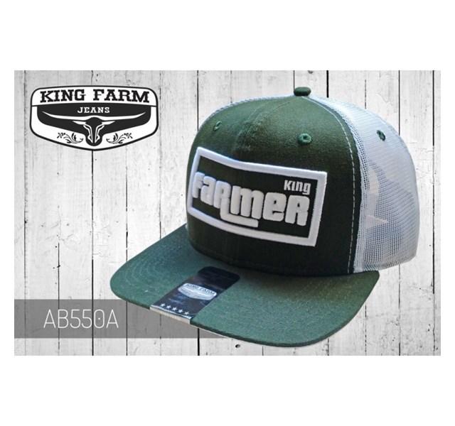 Boné King Farm Verde Musgo/Tela Branco AB550