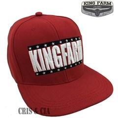 Boné King Farm Vermelho Aba Reta