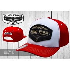 Boné King Farm Vermelho/Branco 8874