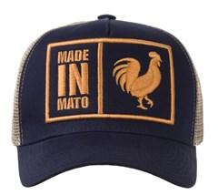 Boné Made In Mato Azul Marinho/ Tela Bege B1362