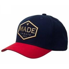 Boné Made In Mato Azul Marinho/Vermelho 0025
