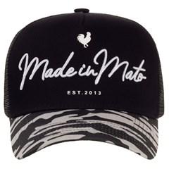 Boné Made In Mato Preto/Camuflado/Tela B1551