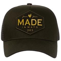 Boné Made In Mato Verde Escuro/Tela B1499