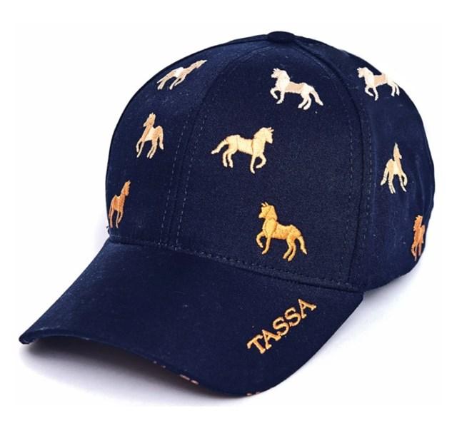 Boné Tassa Gold Azul Marinho Cavalinhos 3735.4 - Crisecia bf2cb44d8a0