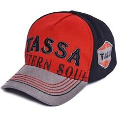 Boné Tassa  Vermelho/Preto/Cinza 3952.1