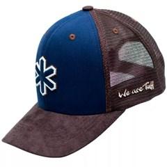 Boné Tuff Azul Marinho/Marrom/Tela CAP-1043-SNAP