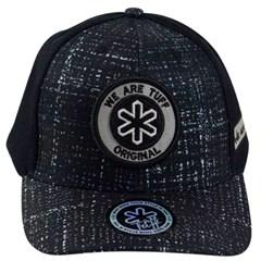Boné Tuff Estampado/Tela Preto CAP-1226-SNAP