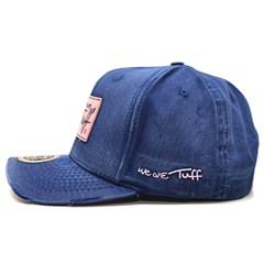 ... Boné Tuff Navy Sanded Azul Jeans  Rosa CAP-0663-SNAP 9045ff6fca9