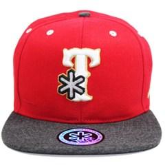 Boné Tuff Texas Fire Vermelho/Chumbo CAP-0214-SNAP