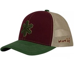 Boné Tuff Vinho/Tela Bege/Aba Verde Musgo CAP-1322-SNAP