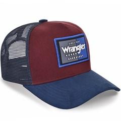 Boné Wrangler Bordô/Azul/Tela WMC321