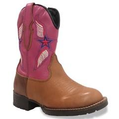 Bota Bull Leather Infantil Caramelo/Pink 315R