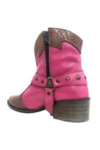 Bota Bull Leather Infantil Pinhão/Pink 703 I