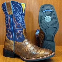 Bota Durango Escamada Canela/Azul 125142G2P