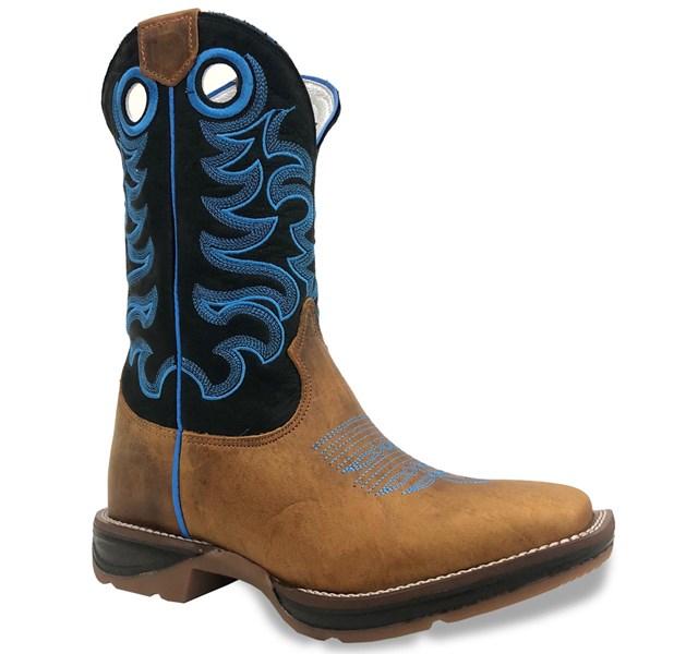 Bota Durango Rust Dog/ Preto/ Azul 1220101027G2T