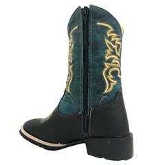 Bota Infantil Mr. West Boots Fossil Preto/Fossil Azul/Dourado 83161