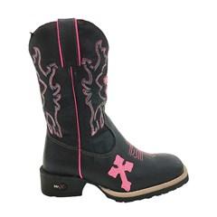 Bota Infantil Mr. West Boots Fossil Preto/Pink 70281 B-77 Cruz PK