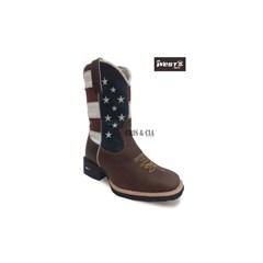 Bota Infantil Mr. West Boots Fossil Tabaco/Usa - B-36