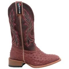 Bota Mexican Boots Avestruz Almondega/Fóssil Sella 87200-MX