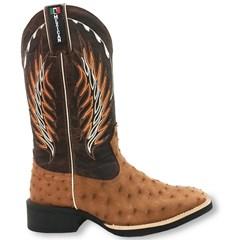 Bota Mexican Boots Avestruz Conhaque/Fossil Tab 82005