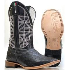 Bota Mexican Boots Avestruz Preto 91612