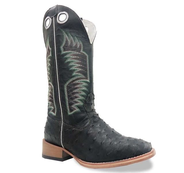 Bota Mexican Boots Avestruz Preto/ Preto 87204-MX