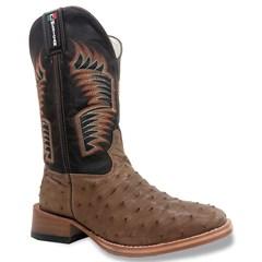 Bota Mexican Boots Avestruz Tab/ Fossil Café 87201-MX
