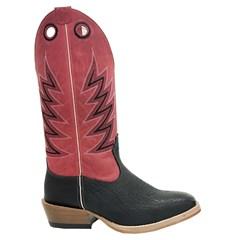 Bota Mexican Boots Cabeça Preta/ Fossil Vermelho/ Carrapeta 83158