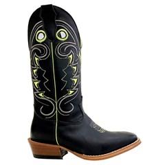 Bota Mexican Boots Carrapeta Fossil Preto/Fossil Preto/Verde Neon 89328