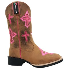 Bota Mexican Boots Fossil Mostarda/Fossil Mostarda/Pink 86353